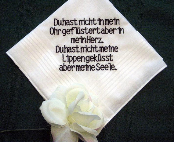 Personalised Wedding Gifts For Bride And Groom Australia : Personalized Wedding Gift Wedding Handkerchief 132B from Bride to ...